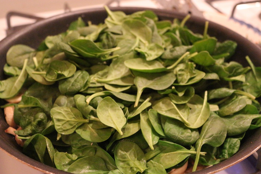 Mounded Spinach