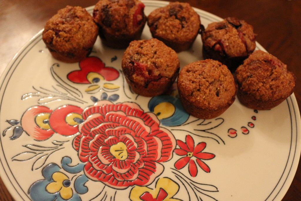 Melted Strawberry Muffins