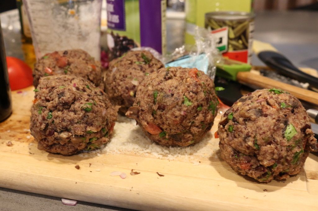 Making the patties 2